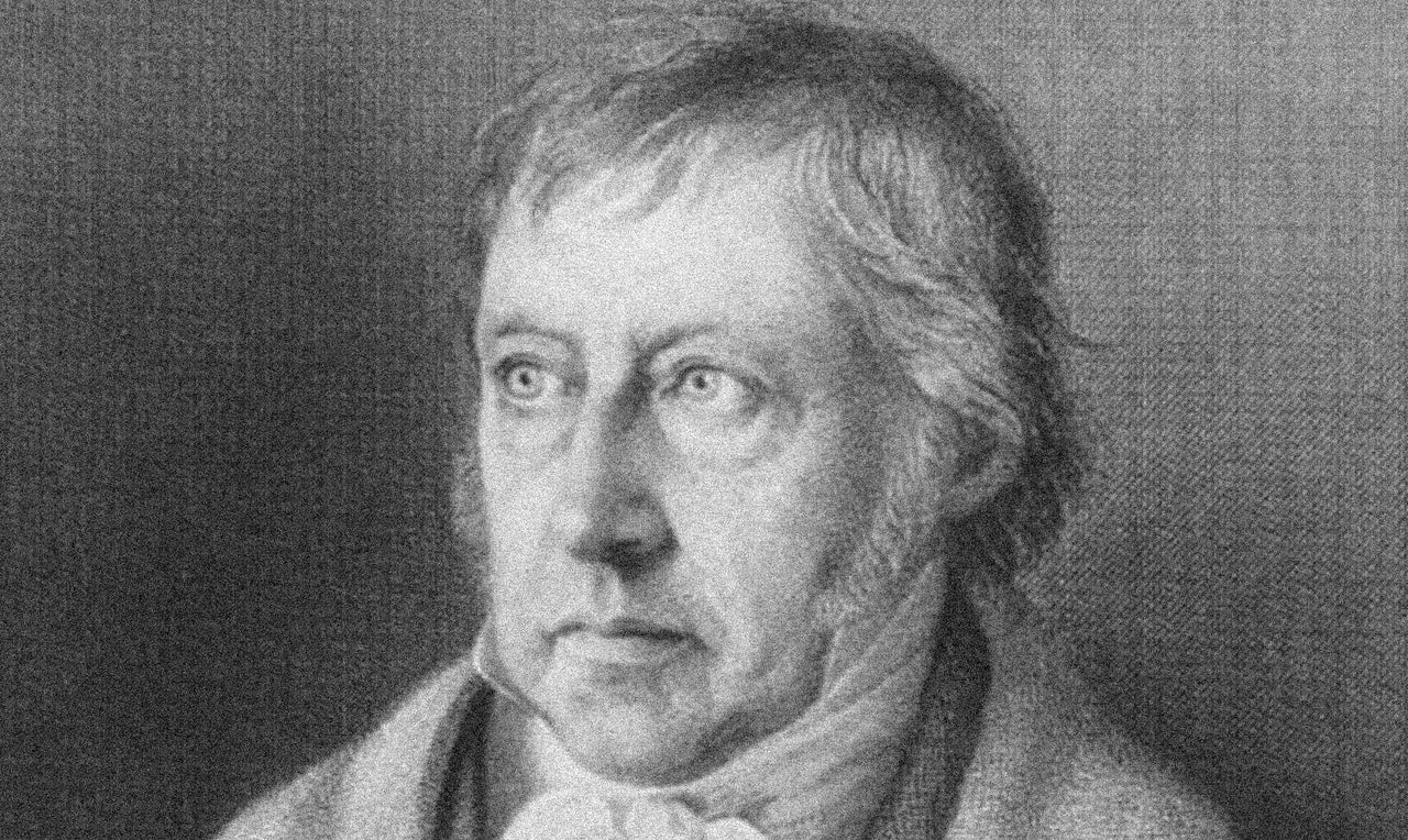 So you married a Hegelian