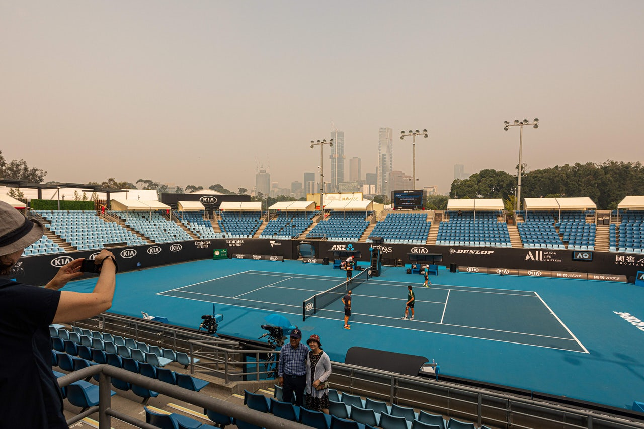 Competitive tennis in the time of climate change
