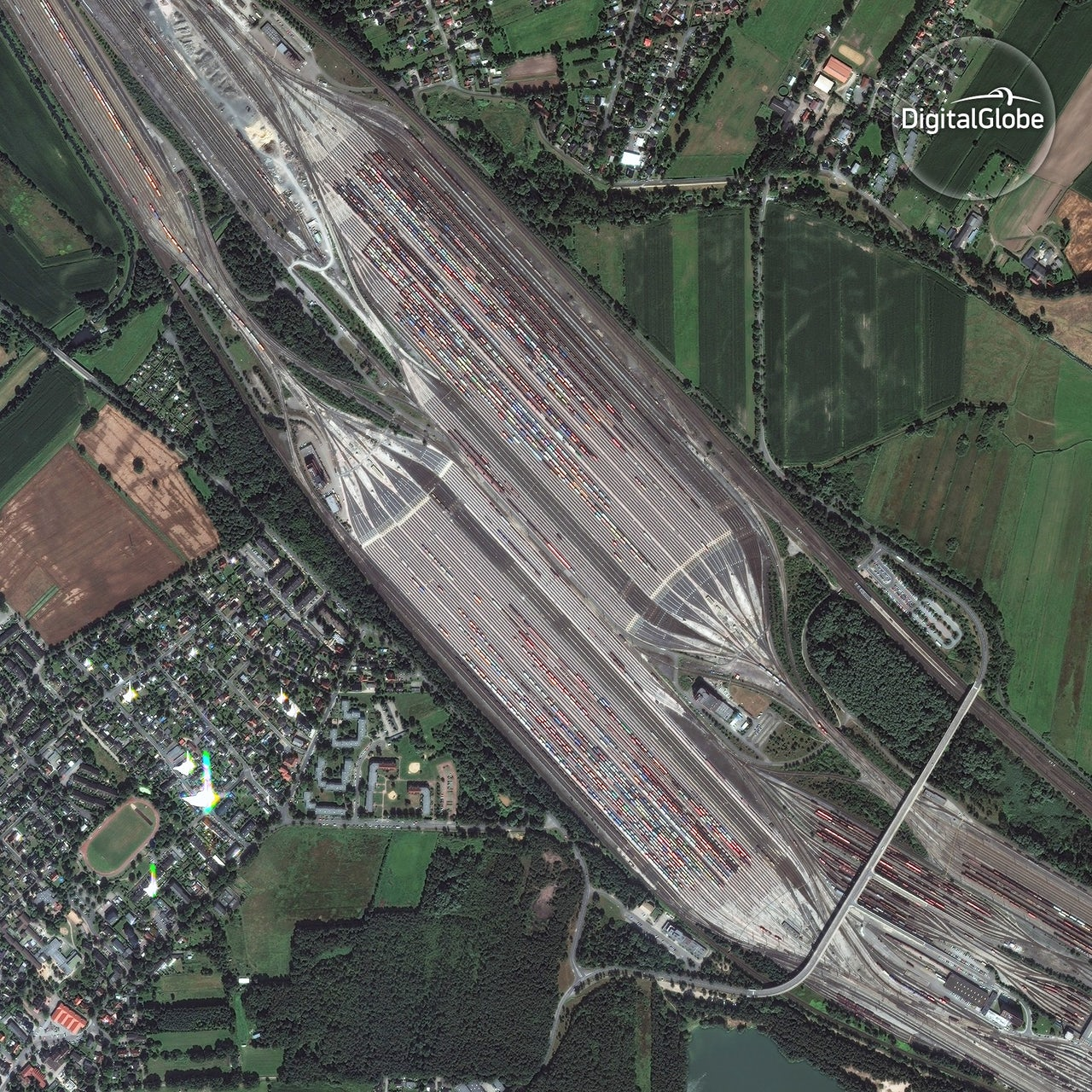 Railyard in Maschen, Germany.